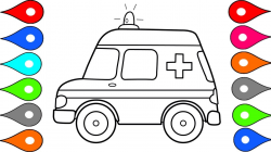 How to Draw Car : Ambulance Car Coloring Pages Drawing for Kids ...
