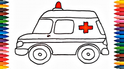 Drawing Car How to Draw Car Colours for Kids - YouTube