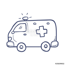 Emergency ambulance draw icon vector illustration graphic design ...