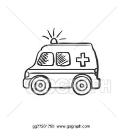 Vector Illustration - Ambulance doodle drawing. EPS Clipart ...