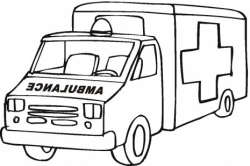 Ambulance Clipart Black And White - Letters