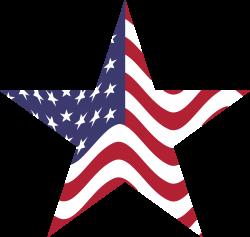 Clipart - American Flag Star