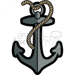 Royalty-Free boat anchor with rope graphic illustration gray 398039 ...