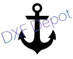Anchor DXF Vector Art Clip Art Png AI Jpeg Pdf