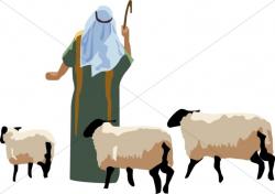Angel Tells Shepherd of the Birth of Christ | Nativity Clipart