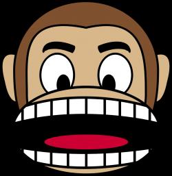 Clipart - Monkey Emoji - Angry