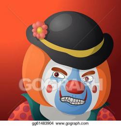Vector Art - Clown angry. EPS clipart gg61483904 - GoGraph
