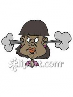 Angry Black Woman - Royalty Free Clipart Picture