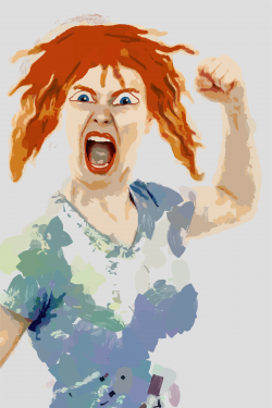 Clipart - Very Angry Woman