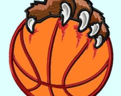 Bear clipart basketball - Pencil and in color bear clipart basketball