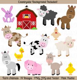 Farm Animals Clipart Farm Animals Clip Art Barnyard Clipart