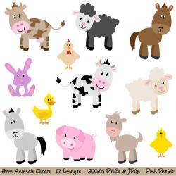 Farm Animals Clipart, Farm Animals Clip Art, Barnyard Clipart ...