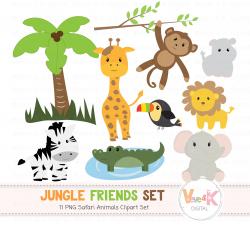 Safari Jungle Animals Clip Art, African Animals Clipart, Jungle Clipart,  Baby Animals, Safari, Zoo Animals, Safari Animals