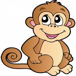 Funny Baby Monkeys Cartoon Clip Art Images On A Transparent ...