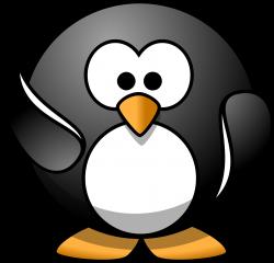 Clipart - waving penguin
