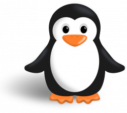 Animal clipart penguin - Pencil and in color animal clipart penguin