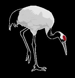 Red Crane Clipart