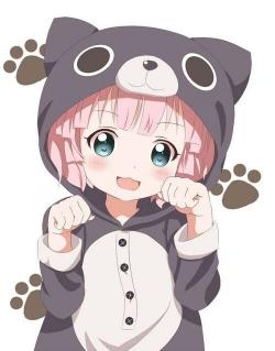 anime girl #pink hair #neko #car #cute #blue eyes #hoodie | Anime ...