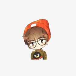 Fashion Cartoon Hand Painted Hat Anime Boy, Warm Man, Anime Boy ...