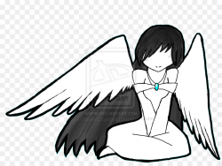 Angel Black And White Drawing at GetDrawings.com | Free for personal ...