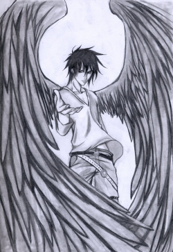 Angel Boy Drawing at GetDrawings.com | Free for personal use Angel ...