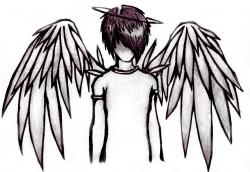 Boy Emo Angel Drawings - ClipArt Best | angils | Pinterest | Angel ...