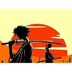 Amazon.com: Samurai Champloo Mugen Jin Sunset Anime Manga Art Print ...