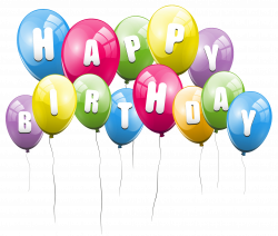 Transparent Balloons Happy Birthday PNG Picture Clipart   Gallery ...