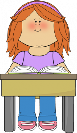Student Reading School Book Clip Art - Student Reading School Book ...