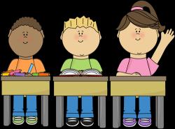 Students at School Clip Art - Students at School Vector Image