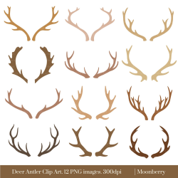 Awesome Antler Clipart Collection - Digital Clipart Collection