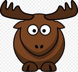 Elk Moose Cartoon Clip art - Cartoon Moose Clipart png download ...