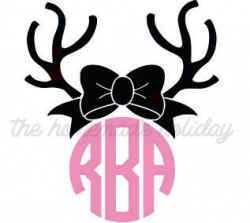 28+ Collection of Reindeer Monogram Clipart | High quality, free ...