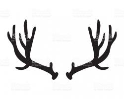 Deer Antler Silhouette at GetDrawings.com   Free for personal use ...