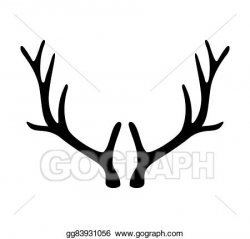 Vector Art - Deer antlers. horns icon isolated on white background ...