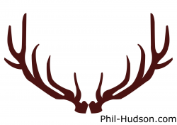 Deer Horns Silhouette at GetDrawings.com | Free for personal use ...
