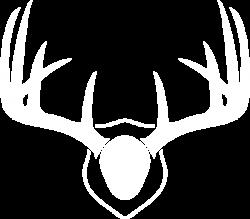 White Mounted Deer Antlers Clip Art at Clker.com - vector clip art ...