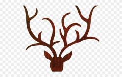 Antler Clipart Transparent Tumblr - Reindeer Antlers Outline ...