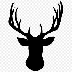 White-tailed deer Reindeer Silhouette Clip art - Deer Head PNG Pic ...
