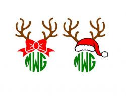 Reindeer Antlers Silhouette at GetDrawings.com | Free for personal ...