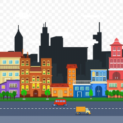 Cityscape Flat Design Skyline Clip Art, PNG, 800x800px ...