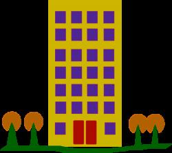 Building With Trees Clip Art at Clker.com - vector clip art online ...