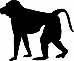 Baboon Silhouette at GetDrawings.com | Free for personal use Baboon ...