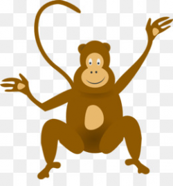 Free download Monkey Jungle Baboons Baby Monkeys Clip art - Cartoon ...