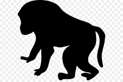 Baboons Mandrill Ape Clip art - animal silhouettes png download ...