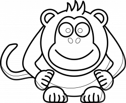 Monkey Clipart Black And White   Clipart Panda - Free Clipart Images