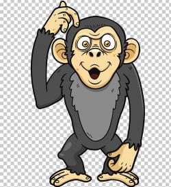 Cartoon Ape Monkey Illustration PNG, Clipart, Be Surprised ...