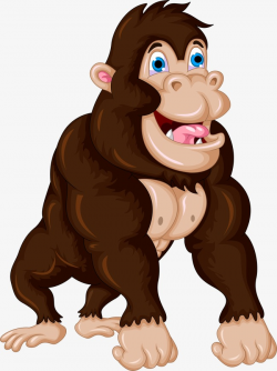 Gorilla, Cartoon, Monkey, Animal PNG Image and Clipart for Free Download