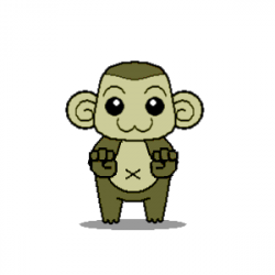 Moving clipart monkey - Pencil and in color moving clipart monkey