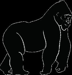 Free Vector Graphic: Silhouette, Ape, Gorilla, Animal - Free Image ...